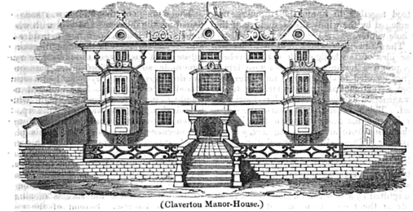 Claverton Manor from The Mirror of literature, amusement, and instruction, Volume 25 by Reuben Percy, John Timbs (1835) page 425-1