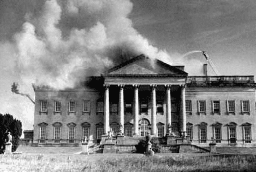 Prior Park fire, 16 August 1991 © Sam Farr