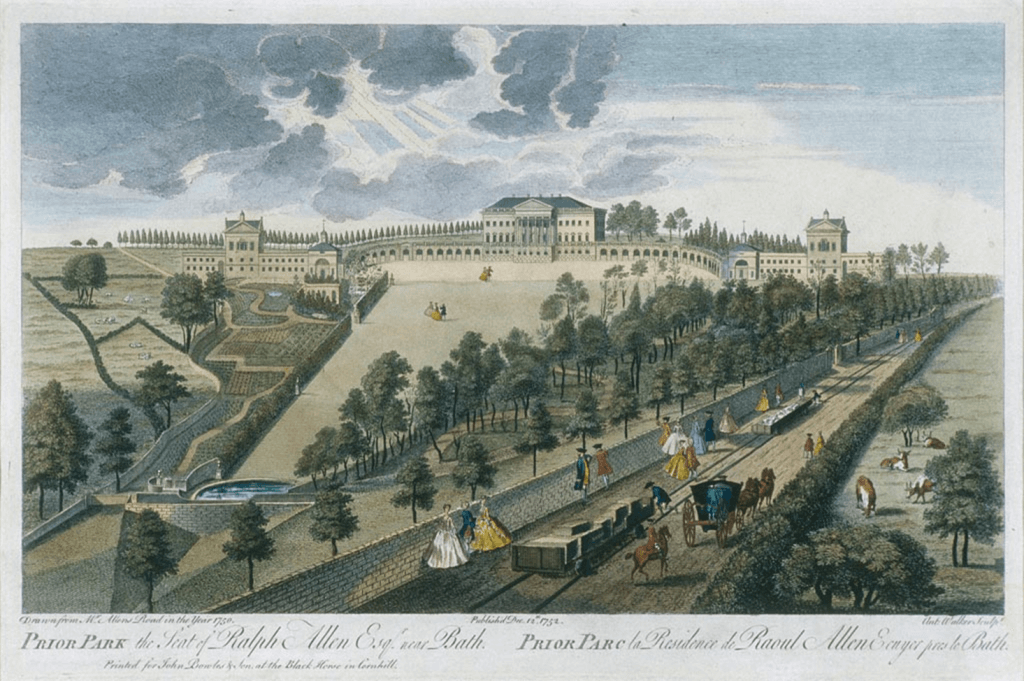 Prior Park, the Seat of Ralph Allen Esq. near Bath 1752 by Anthony Walker (1726-1765)