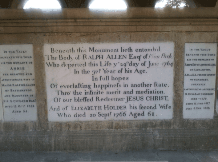 Ralph  Allen's tomb at Claverton