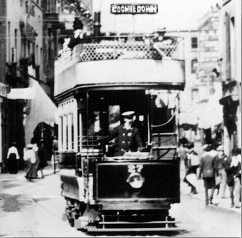 Bath tram to Combe Down (Photo courtesy of the Tramways and Light Railway Society)