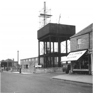 Bradford Road water tank in Combe Down 1950s