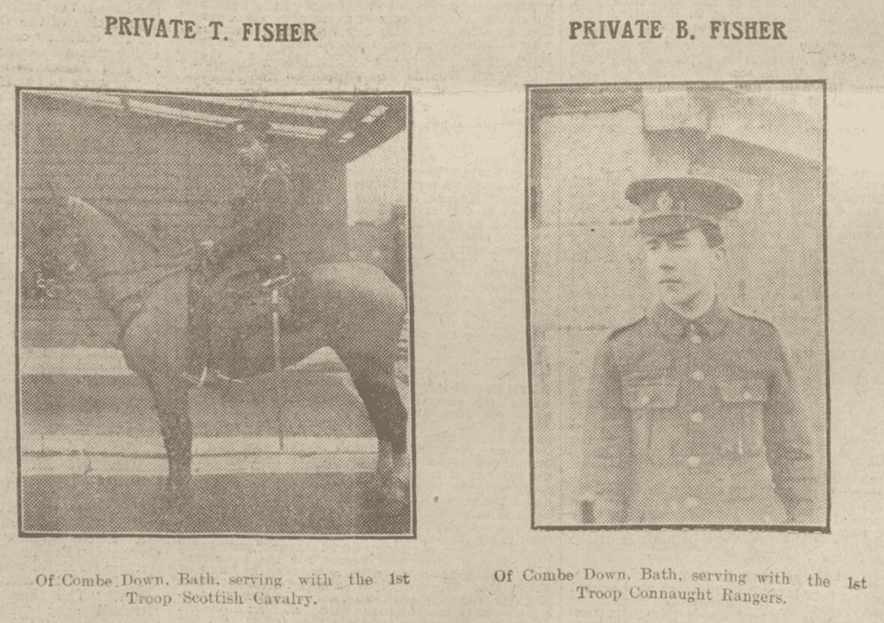 Combe Down people in for King & Country, Bath Chronicle, Saturday 16 January 1915