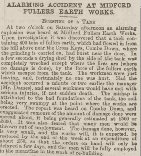 Midford accident, Bath Chronicle, Thursday 8 May 1884