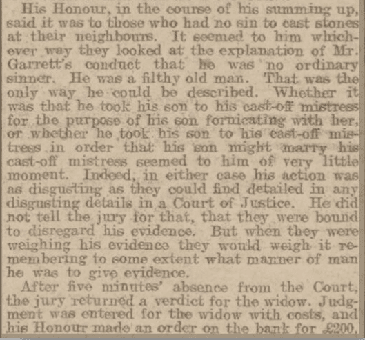 The Judge's view, Bath Chronicle, Thursday 19 December 1907
