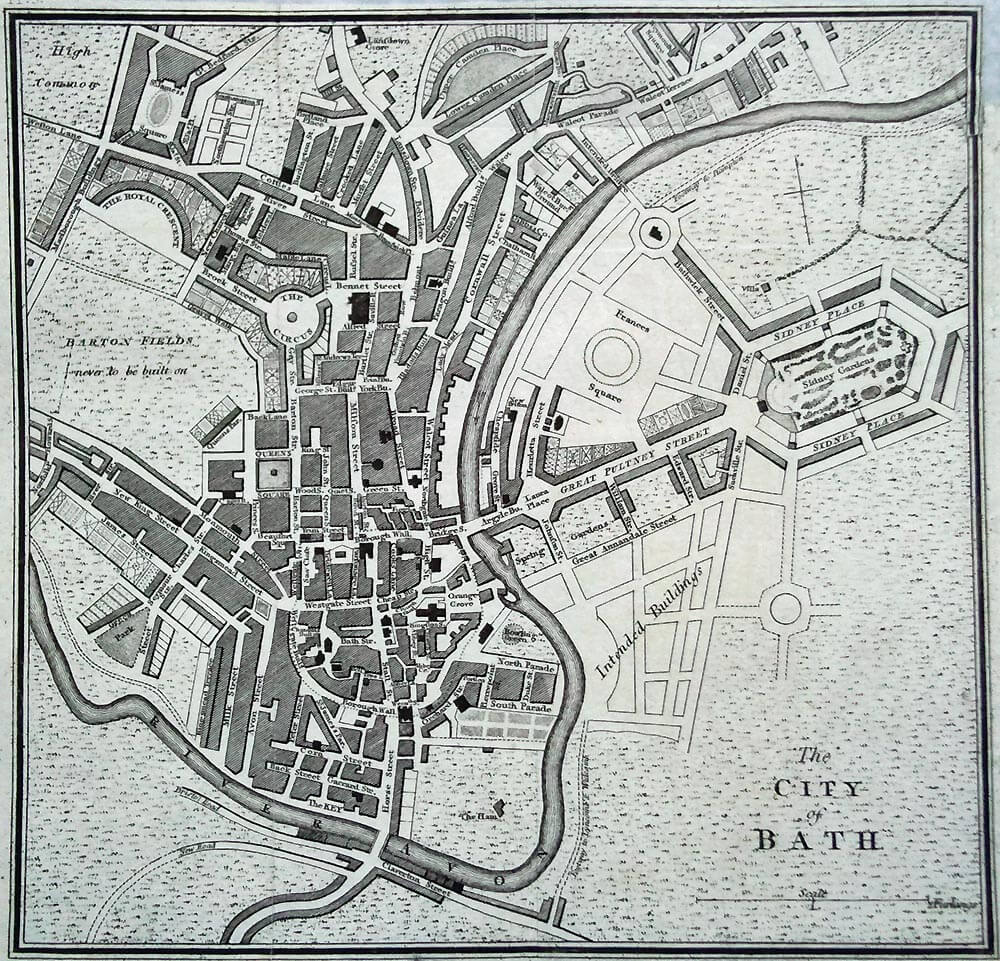 Map of Bath, 1780