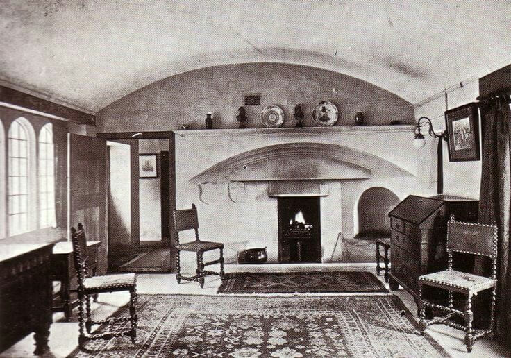 Interior of Lodge Style, Shaft Road, Combe Down, early photo