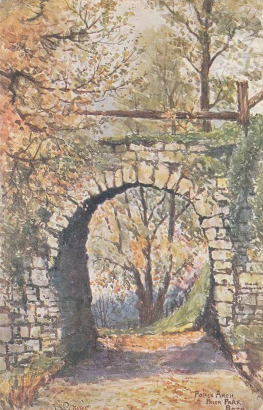 Popes Arch, Prior Park postcard by W Rossiter 1907