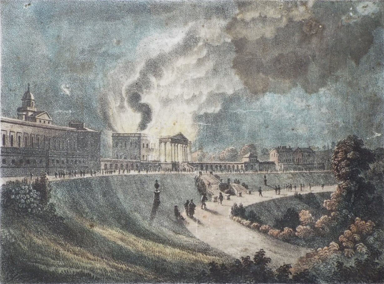 Prior Park fire in 1836, J Hollway