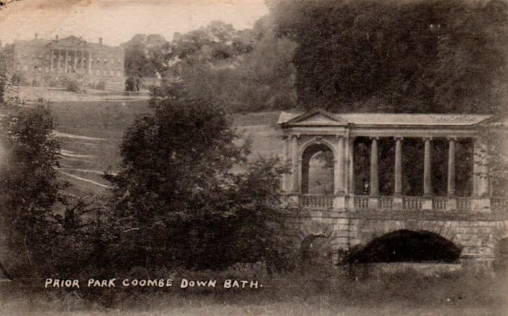 Prior Park from Palladian Bridge, c 1915
