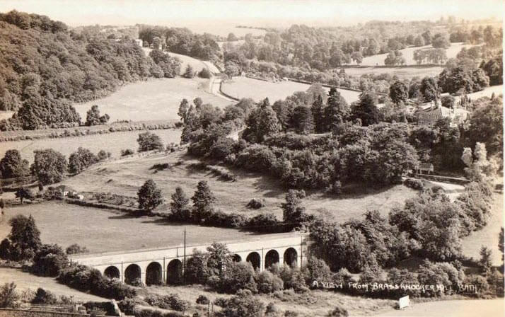 View from Brassknocker Hill, Monkton Combe 1950s