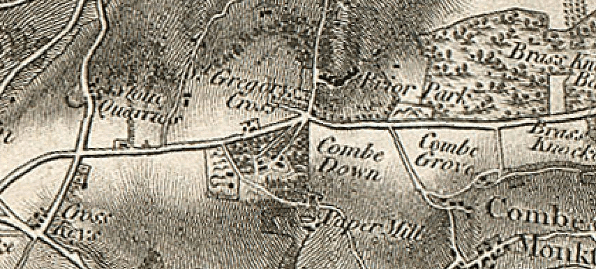 Historical map of Combe Down