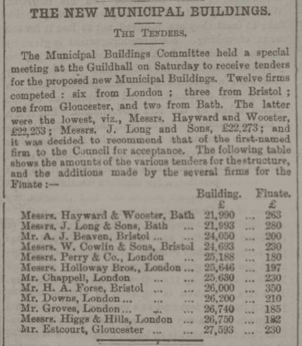 Hayward and Wooster new municipal buildings - Bath Chronicle and Weekly Gazette - Thursday 22 September 1892