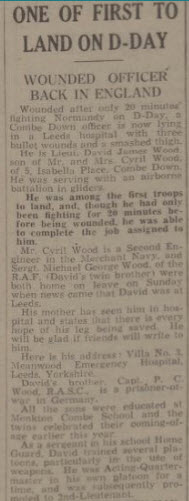 Lieutenant David Wood injured - Bath Chronicle and Weekly Gazette - Saturday 24 June 1944