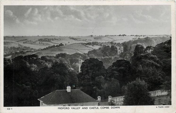 Midford valley and castle 1950s (With thanks to Tuck DB postcards https://tuckdb.org/)