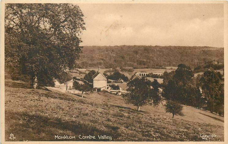 Monkton Combe valley 1950 (With thanks to Tuck DB postcards https://tuckdb.org/)