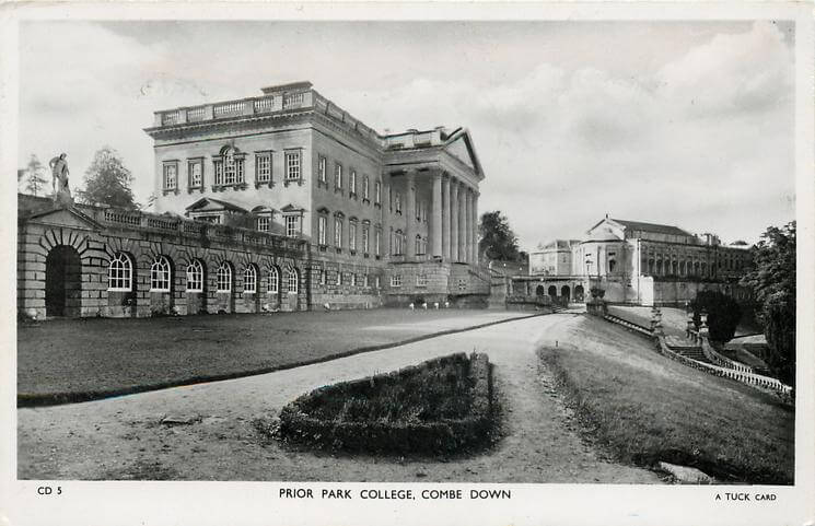 Prior Park college 1950s (With thanks to Tuck DB postcards https://tuckdb.org/)