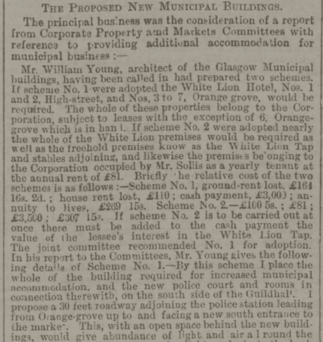 Proposed new municipal buildings - Bath Chronicle and Weekly Gazette - Thursday 6 August 1891