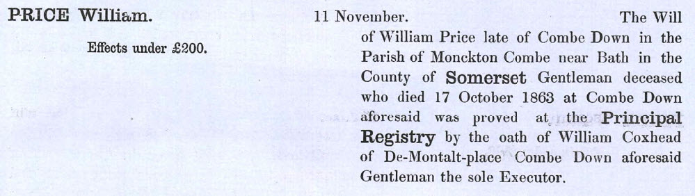 Will of William Price