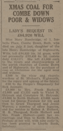 Xmas coal in will - Bath Chronicle and Weekly Gazette - Saturday 28 December 1940