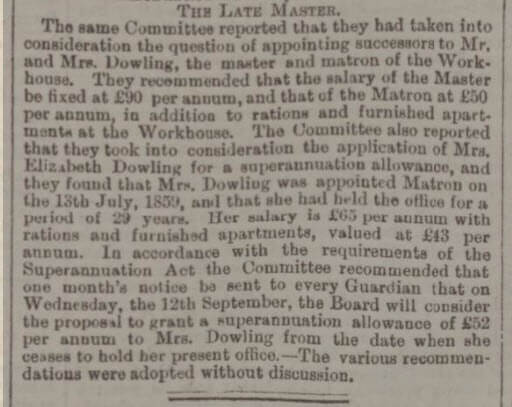 Mrs Dowling and Bath Board of Guardians - Bath Chronicle and Weekly Gazette - Thursday 2 August 1888