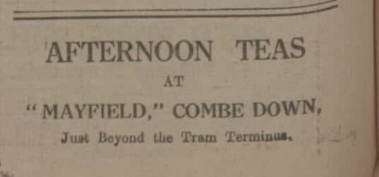 Afternoon teas at Mayfield - Bath Chronicle and Weekly Gazette - Saturday 5 November 1921