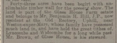 Bath and West show 1912 at Glasshouse Farm - Bath Chronicle and Weekly Gazette - Saturday 18 May 1912