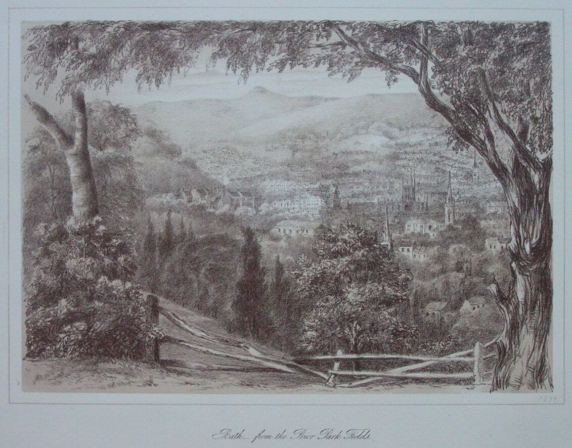Bath from Prior Park by C Stothert, 1881