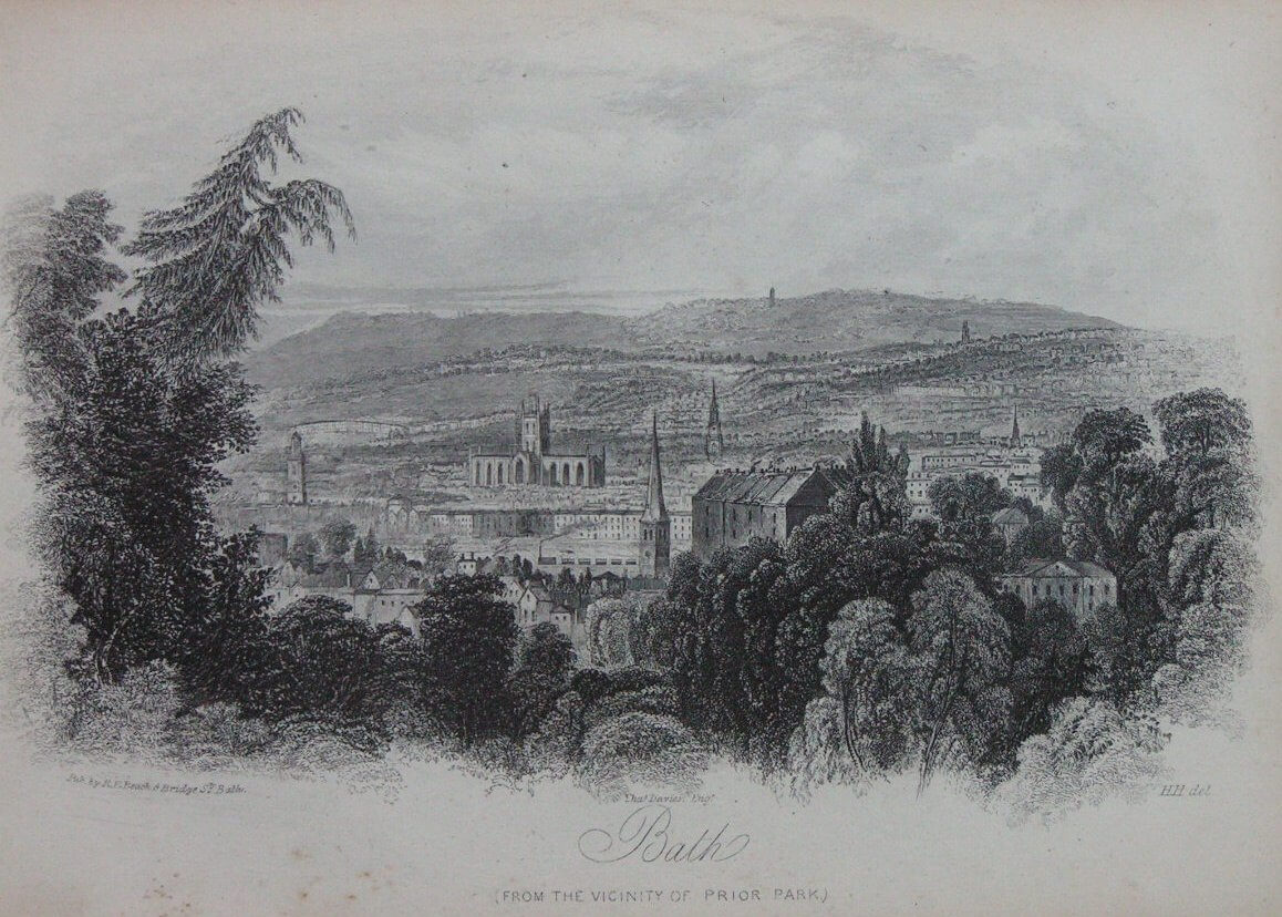 Bath from Prior Park, R E M Peach