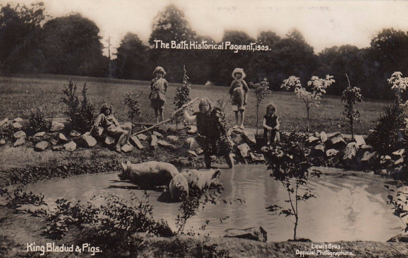 Bath Historical Pageant 1909 - King Bladud and pigs