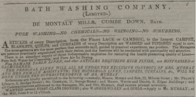 Bath washing company - Bath Chronicle and Weekly Gazette - Thursday 24 March 1859