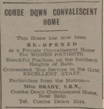 Combe Down convalescent home - Bath Chronicle and Weekly Gazette - Saturday 24 May 1947