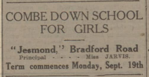 Combe Down school for girls - Bath Chronicle and Weekly Gazette - Saturday 10 September 1927