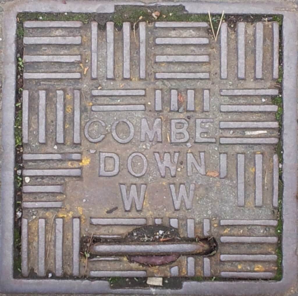 Combe Down waterworks plate on Bradford Road
