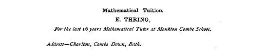 E Thring, Mathematical Tuition, 1895