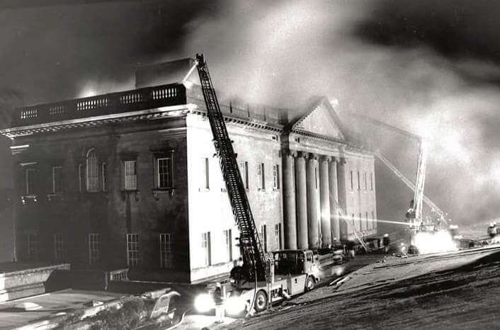 Fire at Prior Park Mansion, 16 August 1991 © Sam Farr