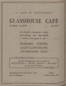 Glasshouse cafe - Bath Chronicle and Weekly Gazette - Saturday 26 October 1929