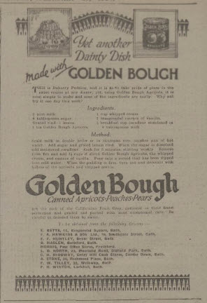 Golden Bough and Entry Hill stores - Bath Chronicle and Weekly Gazette - Saturday 23 February 1924