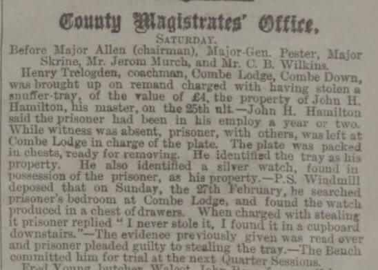 Henry Trelogden accused - Bath Chronicle and Weekly Gazette - Thursday 10 March 1881