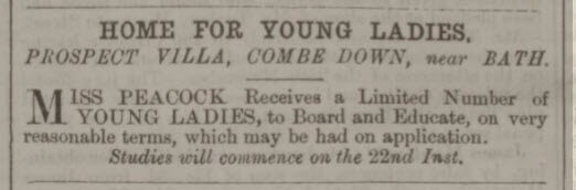 Home for young ladies at Prospect Villa - Bath Chronicle and Weekly Gazette - Thursday 9 January 1862