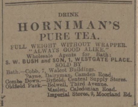 Hornimans tea and Byfield store - Bath Chronicle and Weekly Gazette - Saturday 9 August 1913