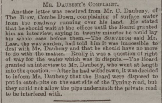 Impossible Daubeney - Bath Chronicle and Weekly Gazette - Thursday 21 July 1892