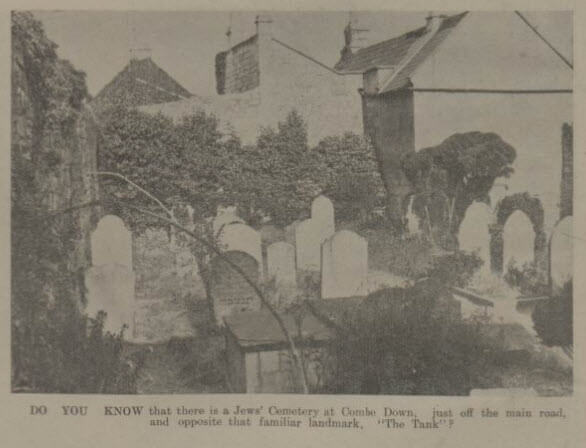 Jewish cemetery - Bath Chronicle and Weekly Gazette - Saturday 24 August 1935