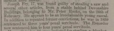 Joseph Fry guilty - Bath Chronicle and Weekly Gazette - Thursday 17 April 1862