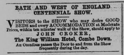King William hotel - Bath Chronicle and Weekly Gazette - Thursday 7 June 1877