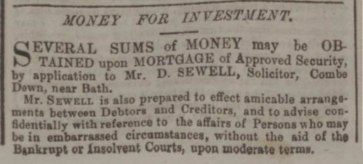 Money for investment - Bath Chronicle and Weekly Gazette - Thursday 17 December 1857