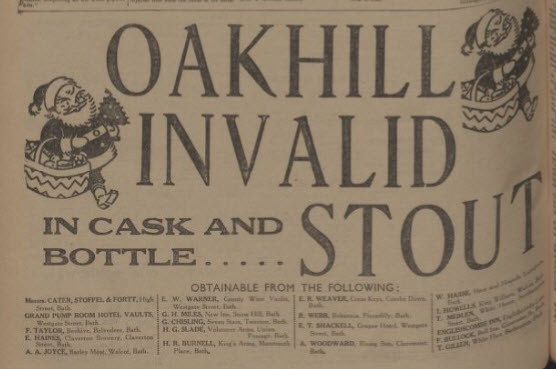 Oakhill invalid stout - Bath Chronicle and Weekly Gazette - Saturday 16 December 1933