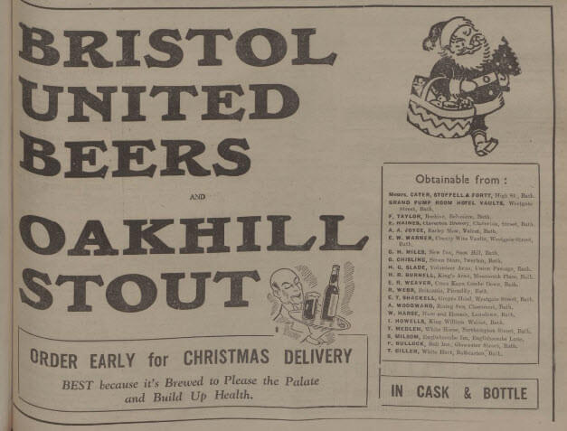 Oakhill stout - Bath Chronicle and Weekly Gazette - Saturday 15 December 1934