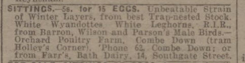 Orchard poultry farm - Bath Chronicle and Weekly Gazette - Saturday 29 March 1924