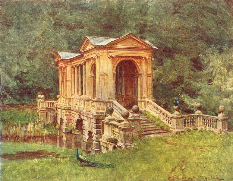 Palladian Bridge, Prior Park, 1906